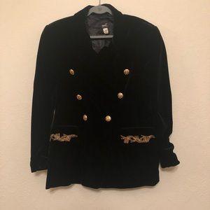 Mondi Velvet Vintage Captain- Style Jacket Blazer